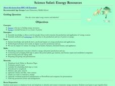 Science Safari: Energy Resources Lesson Plan