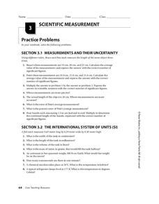 Measurement Tools Worksheet images