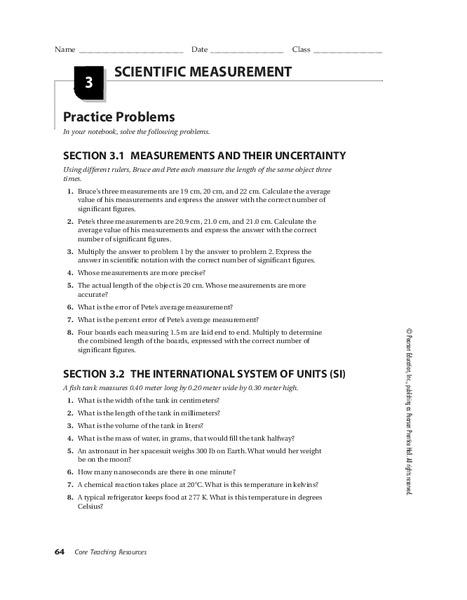 Worksheets Scientific Measurement Worksheet scientific measurement 9th 12th grade worksheet lesson planet