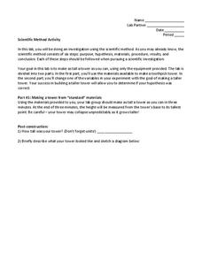Scientific Method Activity Worksheet