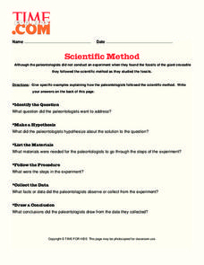 Scientific Method Lesson Plan