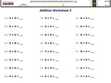 Addition Worksheet 1 Worksheet