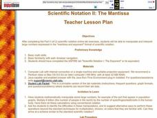 Scientific Notation II: The Mantissa Lesson Plan