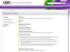 Scream Run Lesson Plan