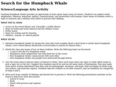 Search for the Humpback Whale Lesson Plan