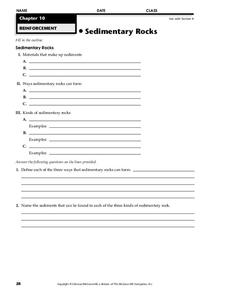 Sedimentary Rocks Worksheet