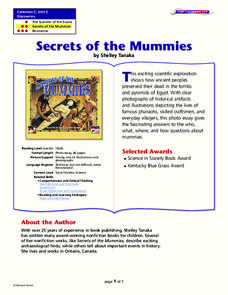 Secrets of the Mummies Lesson Plan