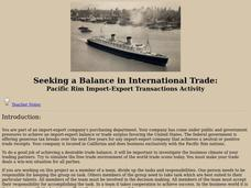 Seeking a Balance in International Trade: Pacific Rim Import-Export Transactions Activity Lesson Plan