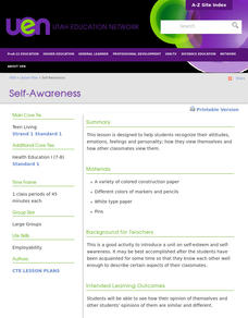 Self-Awareness Lesson Plan
