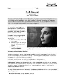Self-Concept Worksheet