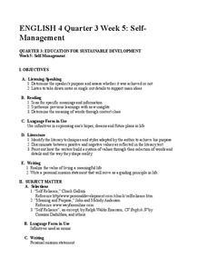 self management lesson plan for 9th 12th grade lesson planet. Black Bedroom Furniture Sets. Home Design Ideas