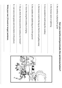 Sentence Punctuation Worksheet