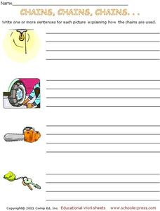 Sentence Writing Worksheet
