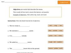 Adjectives 3 Worksheet