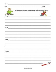 Sequential Writing Worksheet