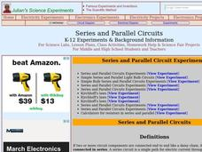 Series and Parallel Circuits Lesson Plan