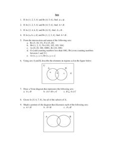 Sets Worksheet