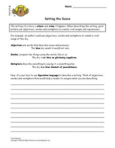 Setting the Scene Lesson Plan