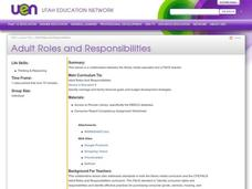 Adult Roles and Responsibilities Lesson Plan