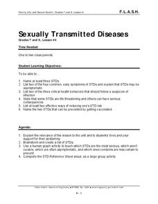 Sexually Transmitted Diseases Lesson Plan