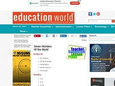 Seven Wonders of the World Lesson Plan