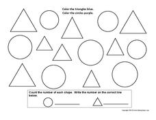 Shape Coloring Activity Worksheet