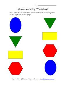 Shape Matching Worksheet Worksheet