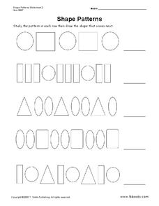 Shape Patterns Worksheet