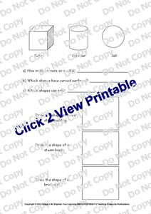 Shapes Worksheet