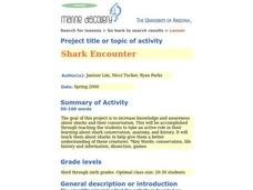 Shark Encounter Lesson Plan