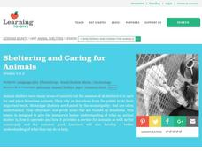 Sheltering and Caring for Animals Lesson Plan
