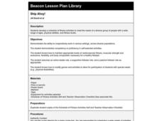 Ship Ahoy! Lesson Plan