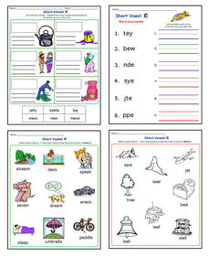 Short Vowel E Worksheet