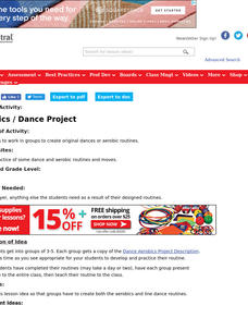 Aerobics/Dance Project Lesson Plan