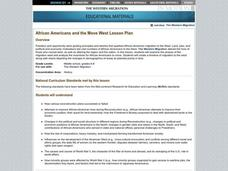 African Americans and the Move West Lesson Plan