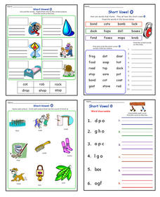 Short Vowel O Worksheet