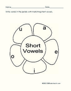 Short Vowels Worksheet