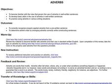 Adverbs Lesson Plan