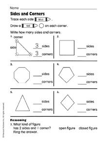 Sides and Corners Worksheet
