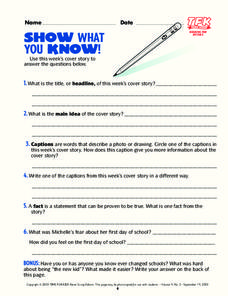 Show What You Know! Lesson Plan