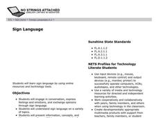 Sign Language Lesson Plan