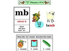 Silent B Worksheet