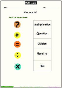 Signs Worksheet