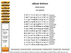silent letters Worksheet