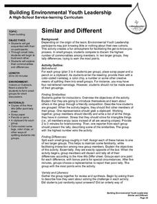 Similar And Different Lesson Plan