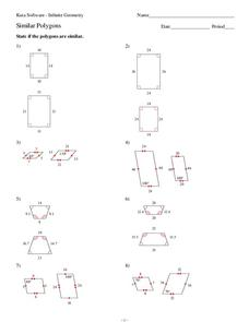 similar polygons worksheet for 9th 10th grade lesson planet. Black Bedroom Furniture Sets. Home Design Ideas