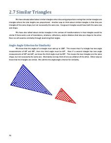 Similar Triangles Worksheet