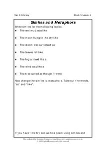 Similes and Metaphors Lesson Plan