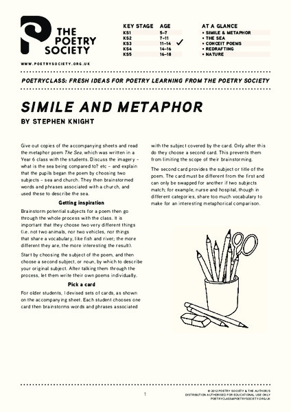 Simile And Metaphor Lesson Plan For 3rd 8th Grade Lesson
