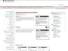 Harmonic Motion Graphs Lesson Plans & Worksheets Reviewed by